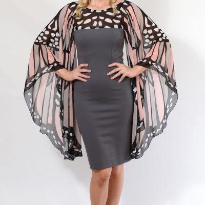 Grey Butterfly Dress