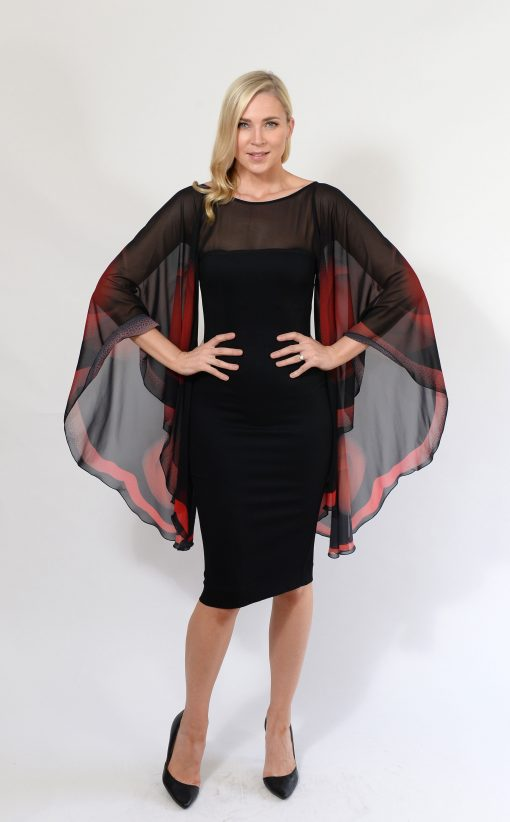 Black and Red Butterfly Dress