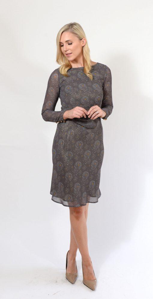Grey Pattern Empire Waist